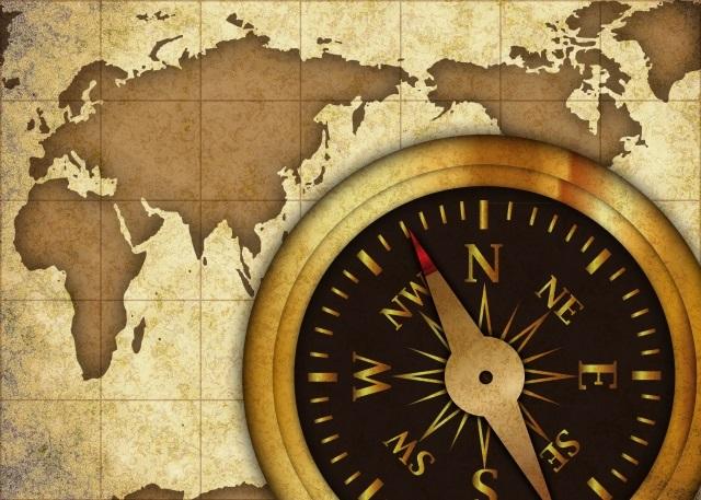 時計と航海図
