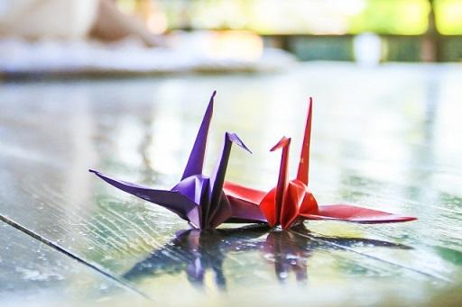 折り鶴の夫婦